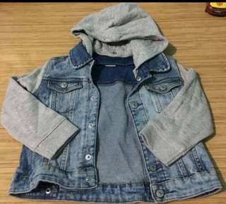 H&M denim hoodie jacket for kids