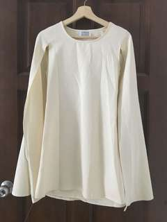 Azorias Cream Cape Dress Top Size S