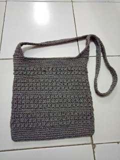 Sling bag abu abu