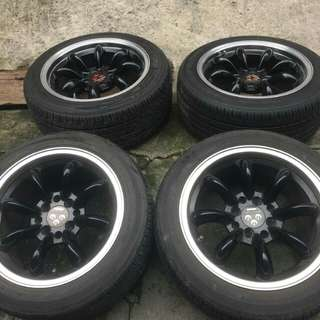 15s Watanabe Mags with Tires