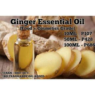 Ginger Essential Oil (Food & Cosmetics Grade)