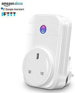 Wifi Smart Plug, Work With Amazon Alexa Google Assistant, Remote Control Plug Timer by Smart Phone