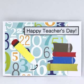 Handmade Teacher's Day card