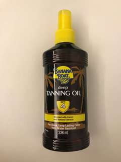 Banana Boat Deep Tanninf Oil SPF 4