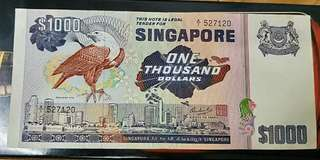 $1000 Bird Series Singapore Dollar