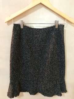 Theme Charcoal Grey Tweed skirt