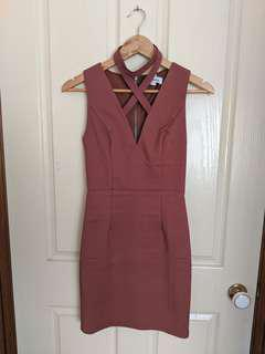 Luvalot criss cross dusty pink dress size 6