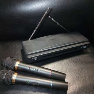 Duo mic wireless microphone system WR-306A