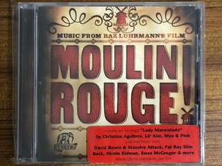 OST Moulin Rouge! - David Bowie, Christina Aguilera, Pink, Fatboy Slim, Nicole Kidman etc Used CD Music