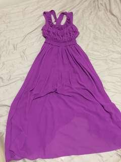 Preloved long purple dress