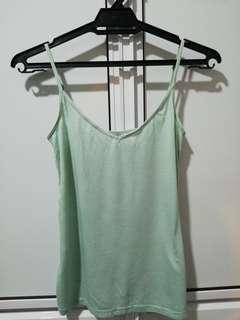 H&M speghetti straps turquoise top