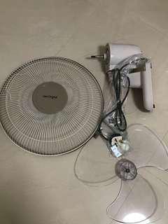 """Aerogaz 16"""" wall fan with remote control"""