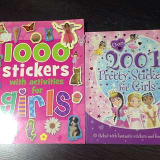 2 Stickers Books For Girls