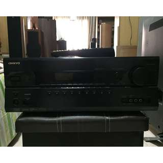 Onkyo TX-SR607 7.2-Channel A/V Surround Home Theater Receiver 140Watts per channel (with remote control)