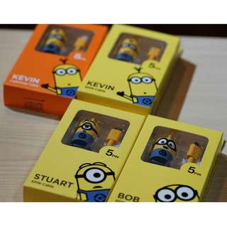 Minions USB cable (for Apple lightning cable, Android 5pin cable )
