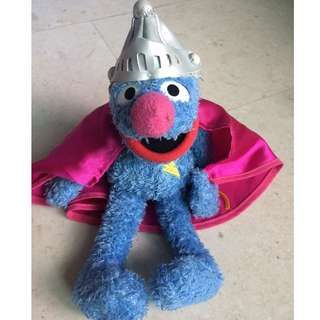 Super Grover, with cape and headgear