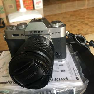 Kamera mirrorless fujifilm XT-10 lensa kit 16-50mm
