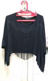 Boho style shirt black