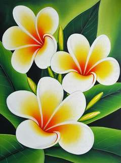 BN Handpainted Painting - Frangipani (original $388)