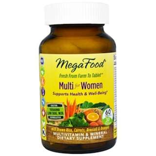 MegaFood, Multi for Women, 60 Tablets