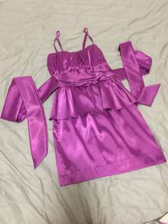 Purple mini Dress preloved/s size