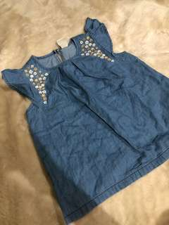 old Navy Denim blouse