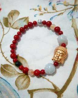 Custom made buddha lucky chatm bracelet