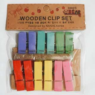 Wooden Clip - Colored
