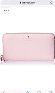 Kate Spade♠️ 長銀包 Wallet Candy Pink 糖果粉紅色全新100%real
