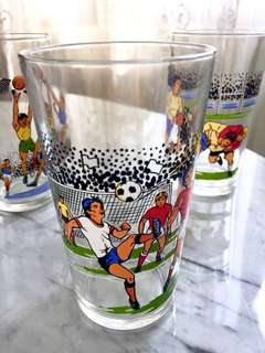 Vintage Football ⚽️ tumbler / drinking glass