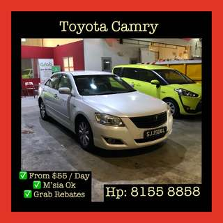 Toyota Camry - Grab Exclusive Car Rentals, Uber welcomed