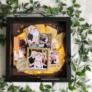 Personalised 3D Photo Frame (Black vs Gold)