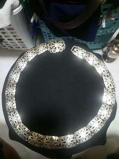 Peranakan silver belt