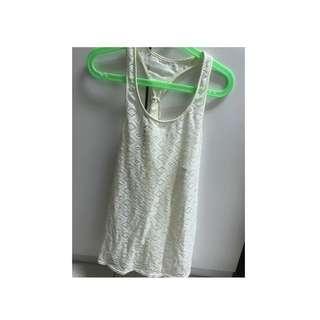 Roxy透明米白色外罩式背心