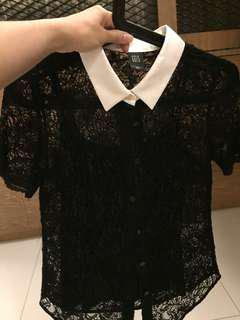 GG<5 lace shirt with inner piece (brand new without tag)