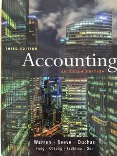Accounting An Asian Edition (3rd edition)