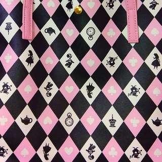 全新 Alice x Colors by Jennifer Sky pink and black tote bag 愛麗絲 黑色 手袋 側孭袋
