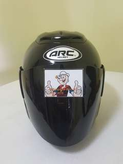 1706*** ARC RITZ BLACK v DARK Black Visor Helmet For Sale 😁😁Thanks To All My Buyer Support 🐇🐇 Yamaha, Honda, Suzuki