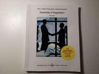 Essential of Negotiation 6 Edition