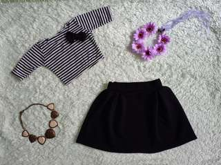 Stripes Top with Skirt