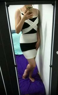 Black white sexy dress / party / prom