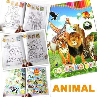 Colouring Sticker Books best for goodie bag, party favor, birthday children day gifts
