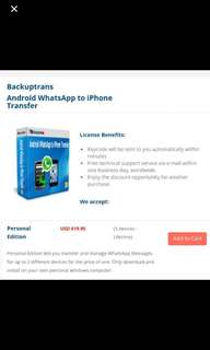 Backuptrans. WhatsApp from android to iphone