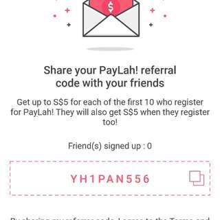 Pay lah! $5 promo code