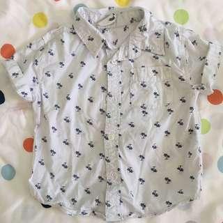 Cotton on kids shirt palm trees size 3