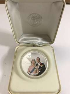 Queen Elizabeth & Duke of Edinburgh Diamond Wedding Anniversary Commemorative Coin