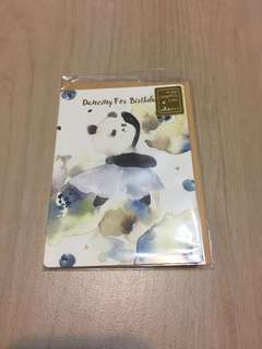 Dancing Panda Birthday Card