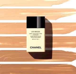 Chanel sheer healthy glow tinted moisturiser & Guerlain youth moisturiser dewy skin
