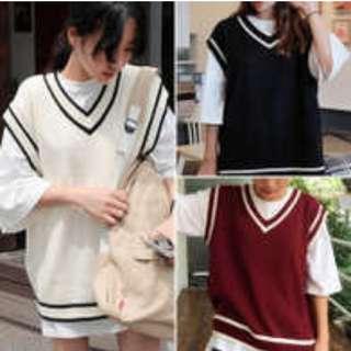 knitted vest (white)