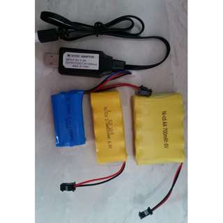 🚚 Nerf WBB Toys Battery & Accessories (AK74U M249 Gelblasters M8 M92)